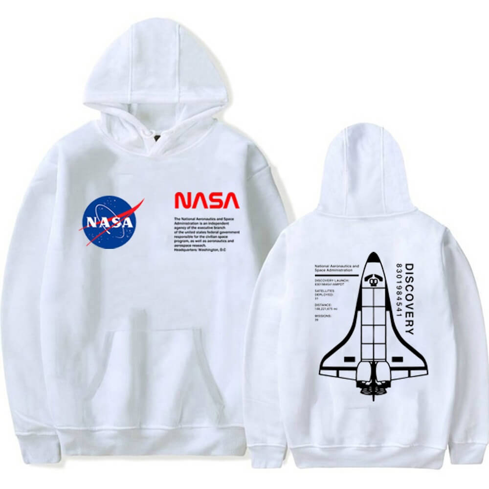 Unisex NASA Ship Satellite Shuttle Logo Hoodie Sweatshirt