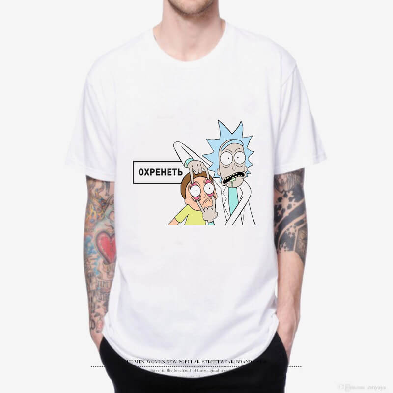 Women/Men Print Rick and Morty T-Shirt Short Sleeve Tops
