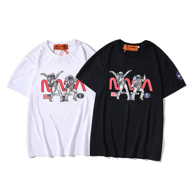 Women/Men Summer Printing NASA Short Sleeve T-Shirt