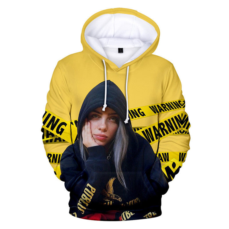 Women's 3D Print Billie Eilish Fashion Hoodie