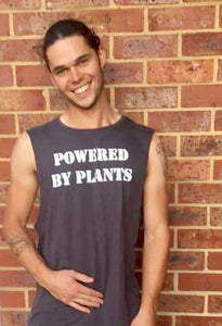 """POWERED BY PLANTS"" Muscle Tees"