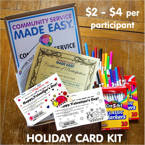 Community Service Project Kit - Color & Donate Holiday Cards
