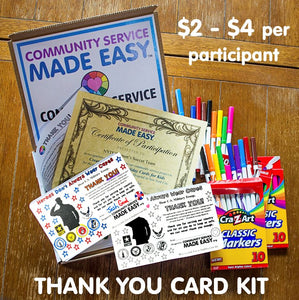 Community Service Project Kit - Color & Donate Thank-You Cards
