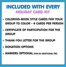 Load image into Gallery viewer, Community Service Project Kit - Color & Donate Holiday Cards