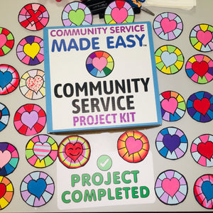 Community Service Project Kit - Paint & Donate Small Mandalas