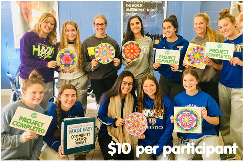 Community Service Project Kit - Paint and Donate Large Mandalas