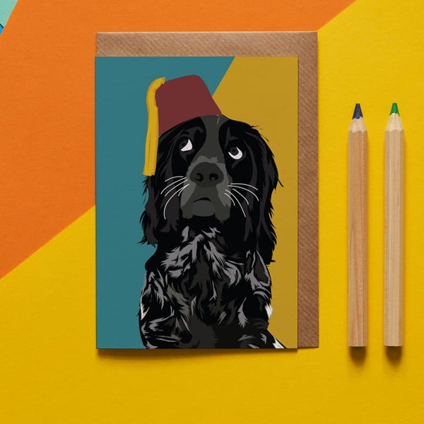 Spaniel Dog Greeting Card By Lorna Syson