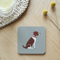Liver & White Springer Spaniel Dog Coaster By Sweet William