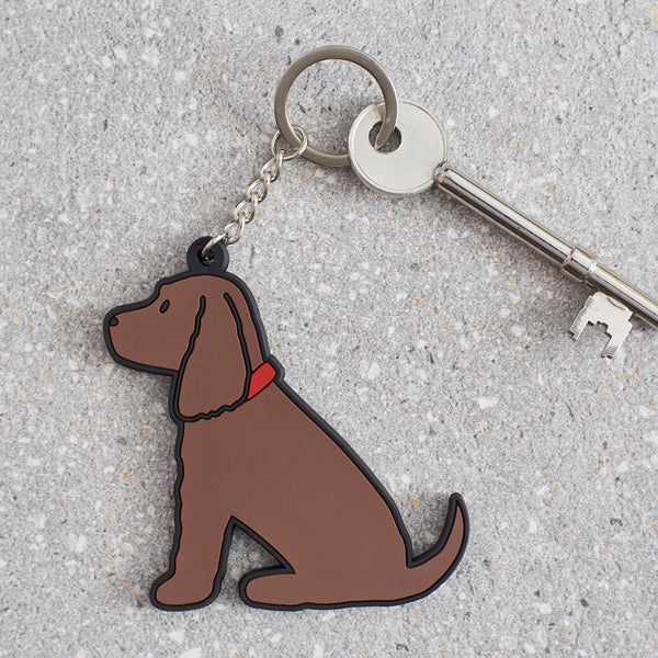 Chocolate Cocker Spaniel Dog Keyring By Sweet William