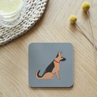 German Shepard Dog Coaster By Sweet William