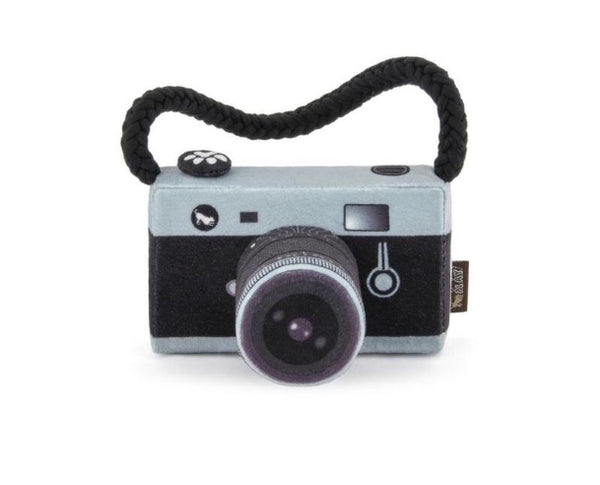 Camera Plush Dog Toy By P.L.A.Y