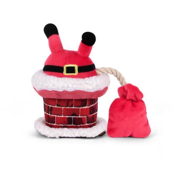 Clumsy Santa Chimney Christmas Dog Toy By P.L.A.Y
