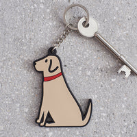 Yellow Lab Dog Keyring By Sweet William