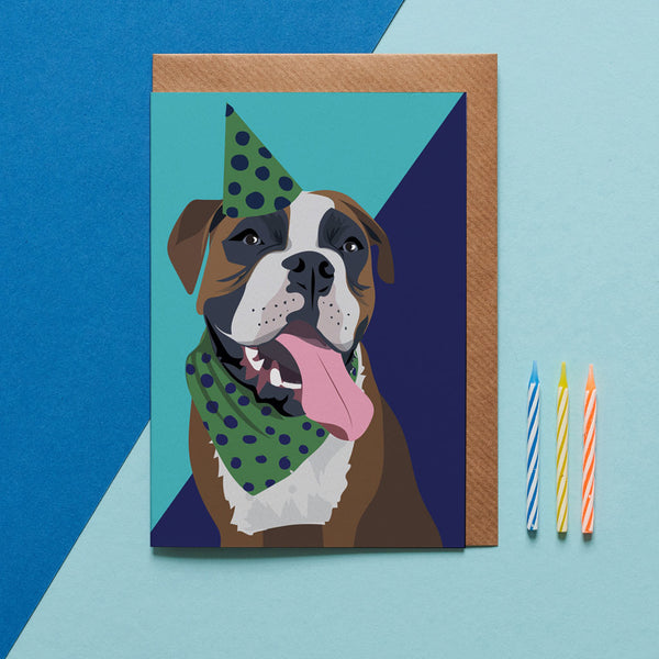 Boxer Dog Greeting Card By Lorna Syson