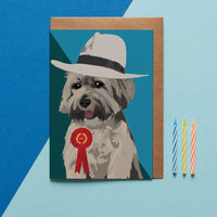 Lhasa Apso Dog Greeting Card By Lorna Syson