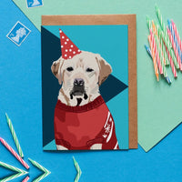 Labrador Dog Greeting Card By Lorna Syson