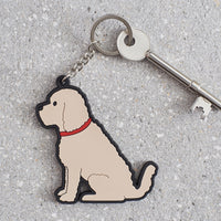Apricot Cockapoo Dog Keyring By Sweet William