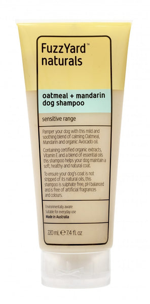 Sensitive Skin Oatmeal Dog Shampoo By FuzzYard
