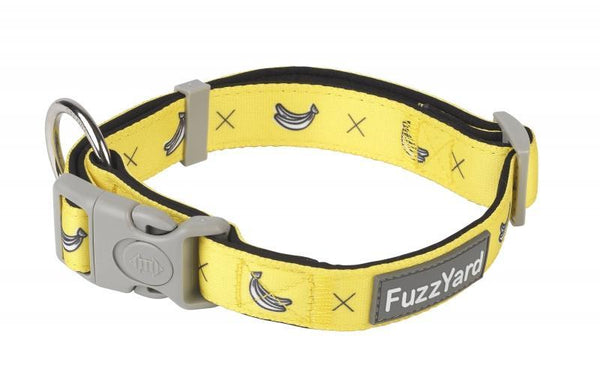 Monkey Mania Banana Dog Collar By Fuzzyard