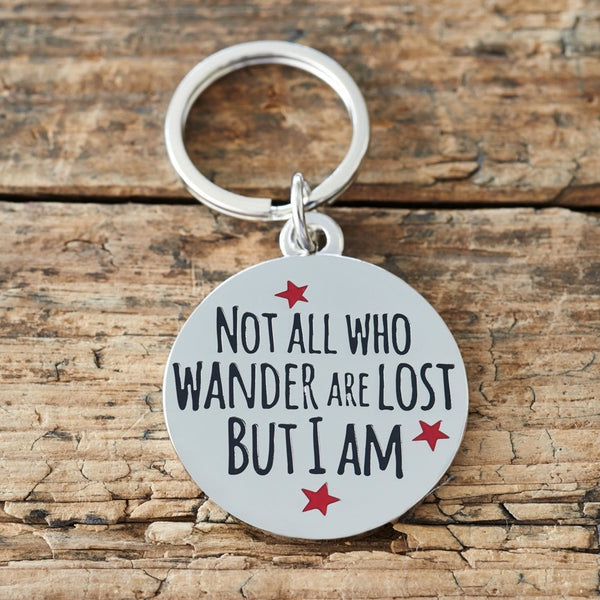 Not All Those Who Wander Dog Tag By Sweet William
