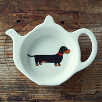 Dachshund Tea Bag Dish By Sweet William