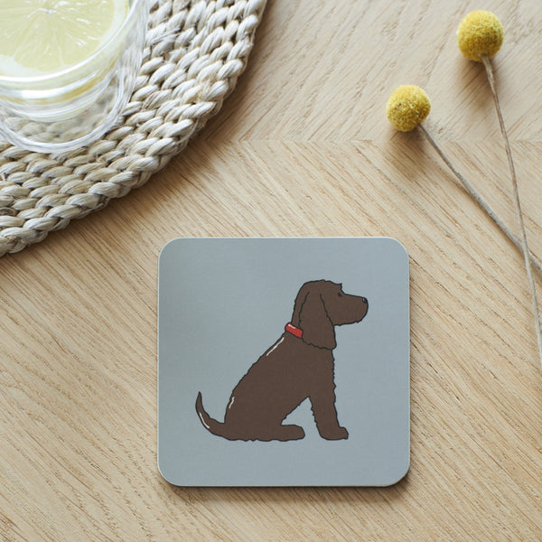 Chocolate Cocker Spaniel Dog Coaster By Sweet William