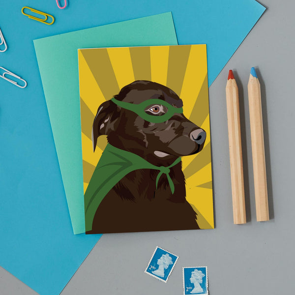 Superhero Lab Greeting Card By Lorna Syson
