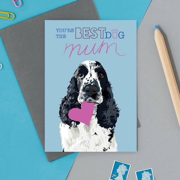 Best Dog Mum Greeting Card By Lorna Syson