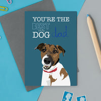 Best Dog Dad Greeting Card By Lorna Syson