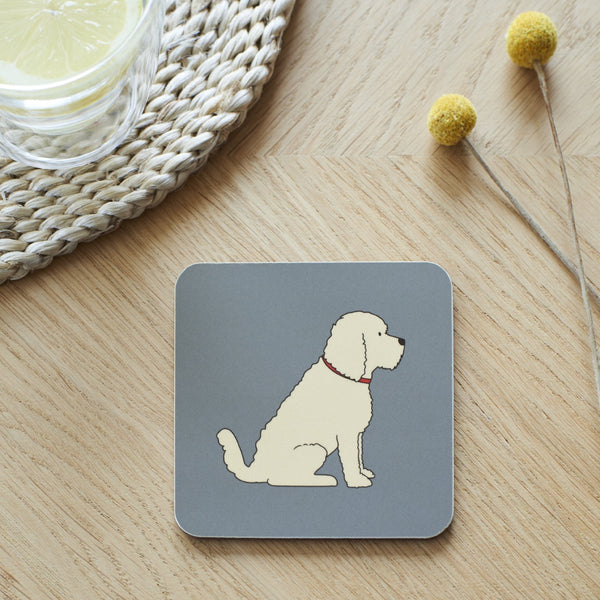 Apricot Cockapoo Dog  Coaster By Sweet William
