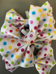 Polka Dot Rainbow Dog Bow Tie By Urban Tails