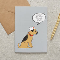 Border Terrier Get Well Soon Dog Greetings Card By Sweet William