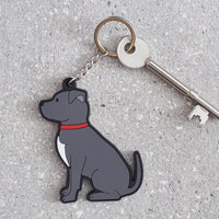 Staffie Dog Keyring By Sweet William