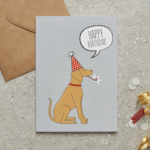 Vizsla Happy Birthday Dog Greetings Card By Sweet William