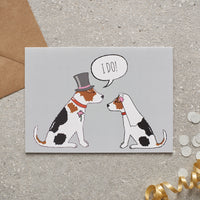 Jack Russell Wedding Greetings Card By Sweet William