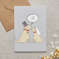 Yellow Lab Wedding Greetings Card By Sweet William