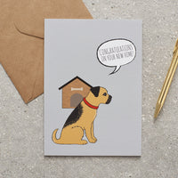 Border Terrier New Home Dog Greetings Card By Sweet William