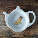 Pug Tea Bag Dish By Sweet William