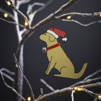 Golden Retriever Dog Christmas Decoration & Card By Sweet William