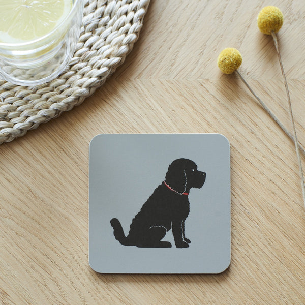 Black Cockapoo Dog Coaster By Sweet William