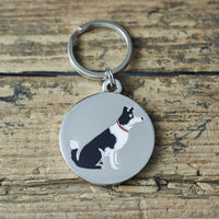 Border Collie Dog Tag By Sweet William