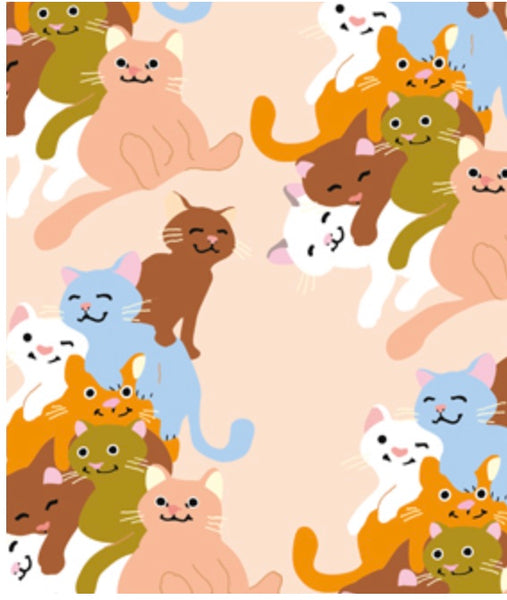 Cat Heap Wrapping Paper By Noi Publishing