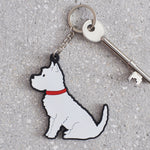 Westie Dog Keyring By Sweet William