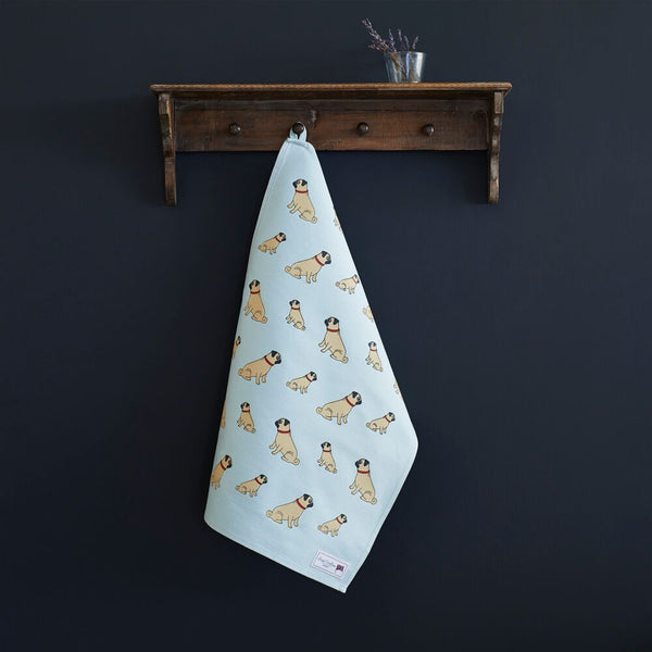 Pug Tea Towel By Sweet William