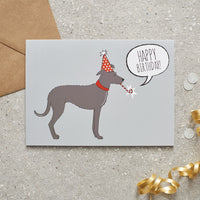 Lurcher Happy Birthday Dog Greetings Card By Sweet William