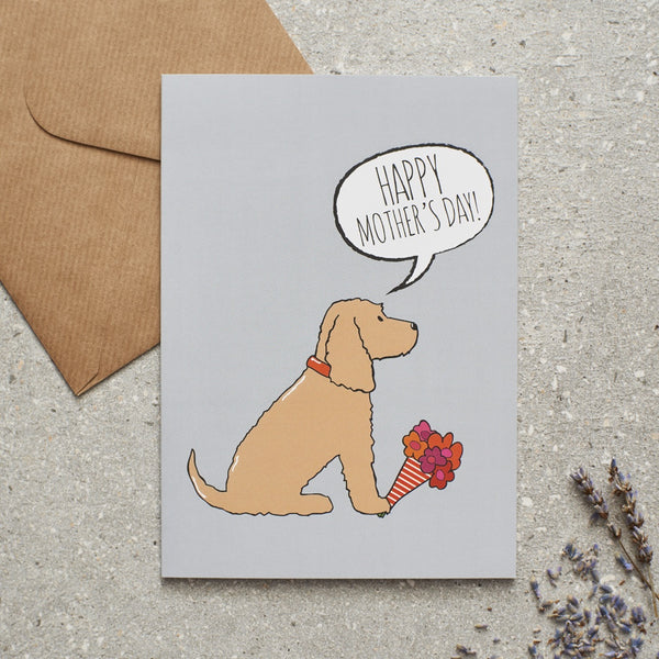 Cocker Spaniel Gold Mothers Day Dog Greetings Card By Sweet William