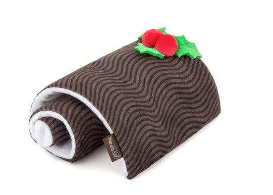 Christmas Yule Log Dog Toy By P.L.A.Y