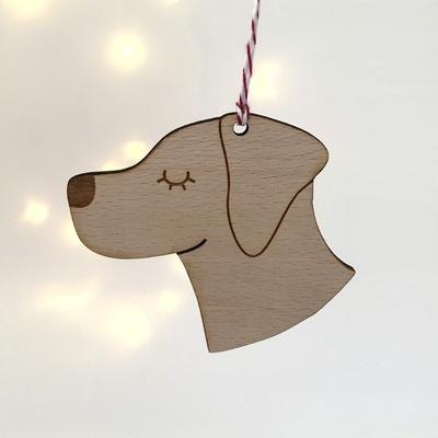 Labrador Dog Wooden Decoration By Hoobynoo