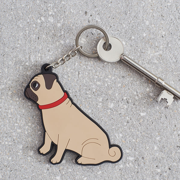 Pug Dog Keyring By Sweet William