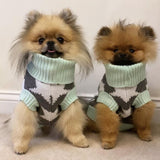 Mint Star Knitted Sweater S/M Human & Pooch Set By Love From Betty